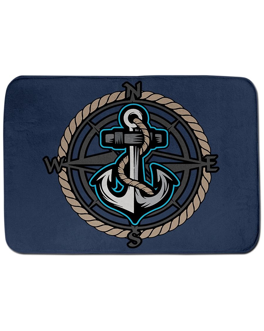 """Sailing Bath Mat - Nautical Designs  Bath Mat - 24"""" x 17"""""""