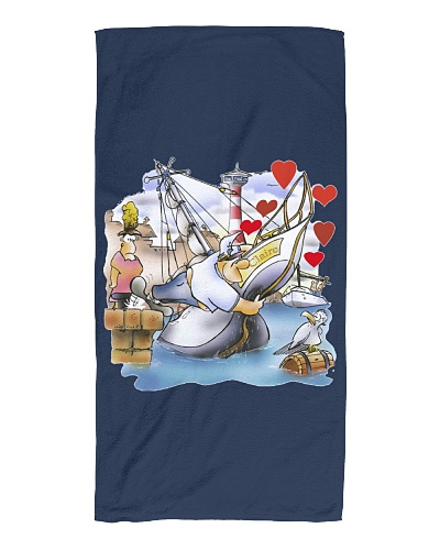 Beach Towel for  Sailing Fans