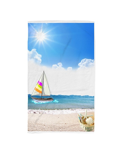 Sailboat Hand towel for bathroom or kitchen