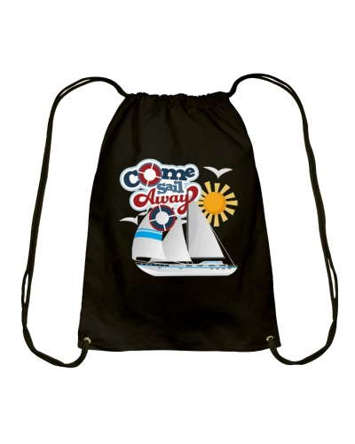 Sail inspired Drawstring Bag- Come Sail Away