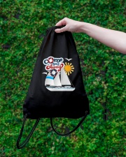 Sail inspired Drawstring Bag- Come Sail Away  Drawstring Bag lifestyle-drawstringbag-front-3