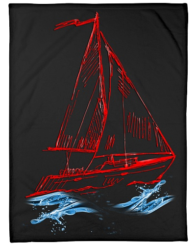 Sailboat Fleece Blanket - Large