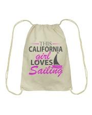 Sail inspired Drawstring Bag - Sailing clothes Drawstring Bag front