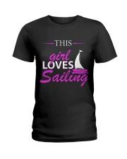 Sailing and Yachting Clothing - Girl Loves Sailing Ladies T-Shirt front