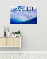 Sailboat Poster Wall Art  36x24 Poster poster-landscape-36x24-lifestyle-01