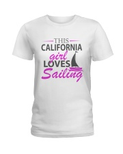 Sailing and Yachting Clothing - Girl Loves Sailing Ladies T-Shirt front