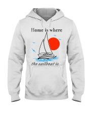 Sailing apparel - Yachting clothing - Hoodie white Hooded Sweatshirt front