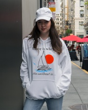 Sailing apparel - Yachting clothing - Hoodie white Hooded Sweatshirt lifestyle-unisex-hoodie-front-5