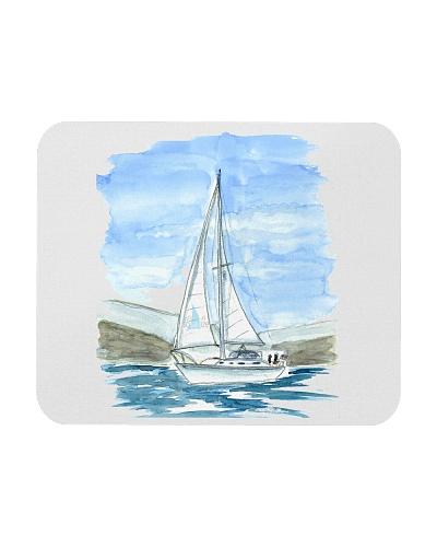 Sailboat Mousepad - Sailing apparel