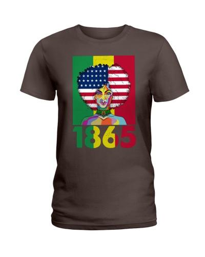 Juneteenth 1865 African American Flag Black Women