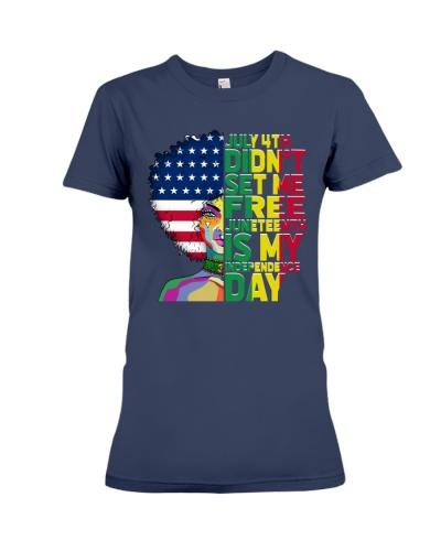 Juneteenth American Flag Black Women Independence