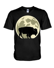 Bison Lover T-Shirt for Hal V-Neck T-Shirt thumbnail
