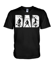 BASKETBALL DAD GIFT FOR FATHER'S D V-Neck T-Shirt thumbnail