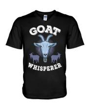 Goat Whisperer T-Shirt I Farmer Animals V-Neck T-Shirt thumbnail