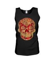 Gold Red Sugar Skull T-Shirt Calavera D Unisex Tank thumbnail