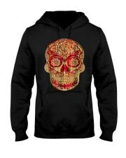 Gold Red Sugar Skull T-Shirt Calavera D Hooded Sweatshirt thumbnail