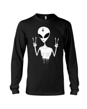 We Come in Peace  Nu Goth Pastel or Ha Long Sleeve Tee thumbnail