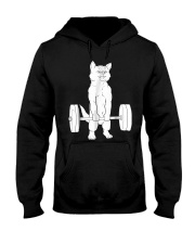 Cat Deadlift Powerlifting T-Shirt Hooded Sweatshirt thumbnail