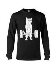 Cat Deadlift Powerlifting T-Shirt Long Sleeve Tee thumbnail