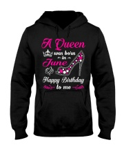 A Queen Was Born In June Birthday Shirts For Hooded Sweatshirt thumbnail