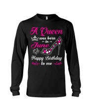 A Queen Was Born In June Birthday Shirts For Long Sleeve Tee thumbnail
