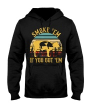 Vintage Smoke 'Em If You Got 'Em BBQ Grilling Hooded Sweatshirt thumbnail