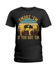 Vintage Smoke 'Em If You Got 'Em BBQ Grilling Ladies T-Shirt thumbnail
