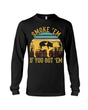 Vintage Smoke 'Em If You Got 'Em BBQ Grilling Long Sleeve Tee thumbnail