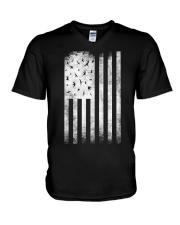 Bird Watching USA American Flag V-Neck T-Shirt thumbnail