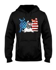 American French Bulldog Patriot Hooded Sweatshirt thumbnail