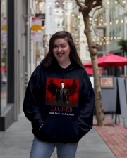LUCIFER  Hooded Sweatshirt lifestyle-unisex-hoodie-front-2