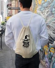Trick or Treat Drawstring Bag lifestyle-drawstringbag-front-1