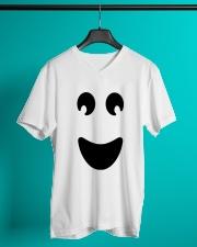 Ghost of Halloween V-Neck T-Shirt lifestyle-mens-vneck-front-3