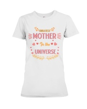 Greatest Mother In The Universe Premium Fit Ladies Tee front