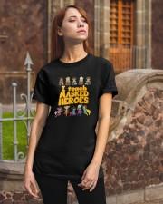 I Teach Masked Heroes Shirt Classic T-Shirt apparel-classic-tshirt-lifestyle-06