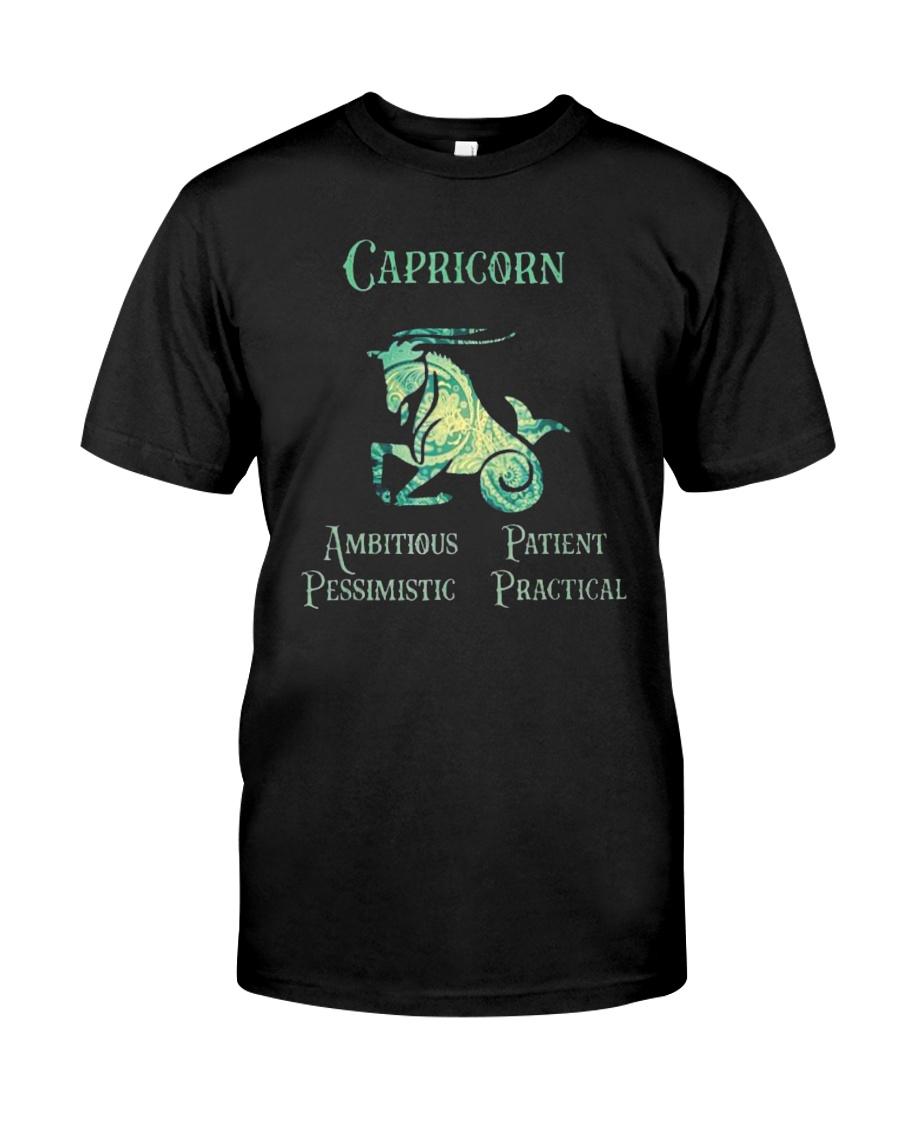 Capricorn Ambitious Patient Pessimistic Shirt Classic T-Shirt