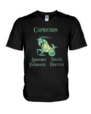 Capricorn Ambitious Patient Pessimistic Shirt V-Neck T-Shirt thumbnail