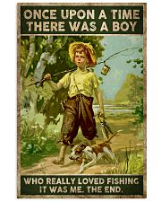 There was a boy who really loved fishing 24x36 Poster front