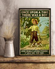 There was a boy who really loved fishing 24x36 Poster lifestyle-poster-3