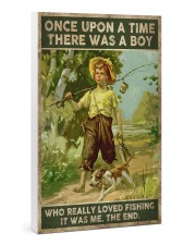 There was a boy who really loved fishing 24x36 Gallery Wrapped Canvas Prints thumbnail