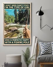 I'm perfectly happy with a fishing role 24x36 Poster lifestyle-poster-1