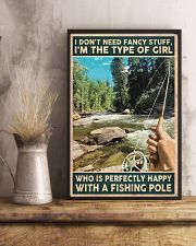 I'm perfectly happy with a fishing role 24x36 Poster lifestyle-poster-3