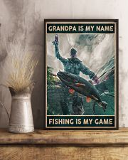 Grandpa is my name - Fishing is my game 24x36 Poster lifestyle-poster-3