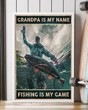 Grandpa is my name - Fishing is my game 24x36 Poster lifestyle-poster-4