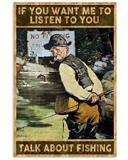 Talk about fishing 24x36 Poster front