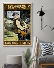 Talk about fishing 24x36 Poster lifestyle-poster-1