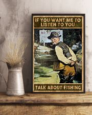 Talk about fishing 24x36 Poster lifestyle-poster-3