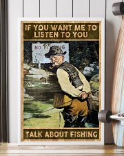 Talk about fishing 24x36 Poster lifestyle-poster-4