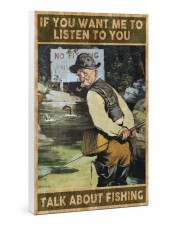 Talk about fishing 24x36 Gallery Wrapped Canvas Prints thumbnail