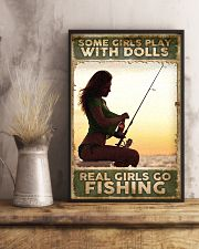 Some Girls play with Dolls - Real Girls go Fishing 24x36 Poster lifestyle-poster-3